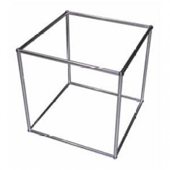 D5311 - Display Cube - QED - Single Tier - Alloy Frame - Glass Shelf