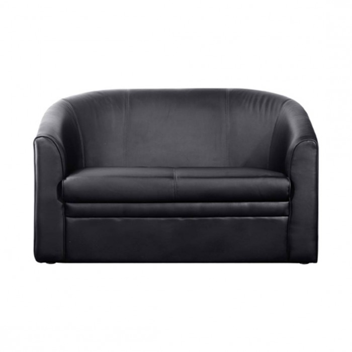 rosa tub sofa black leatherette event furniture hire. Black Bedroom Furniture Sets. Home Design Ideas