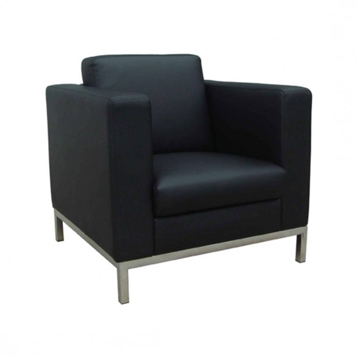 C1201 - Arm Chair - Oasis - Black Leatherette