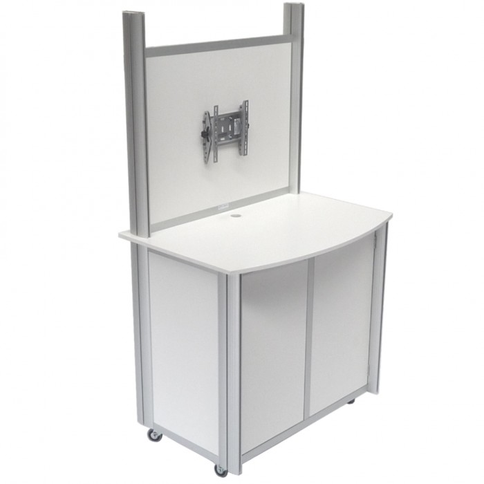 C7221 - Counter - Metro - White - Upstand - 1150w x 820d x 2060h