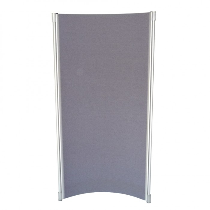P4506 - Curved Partition Panel - Blue-grey fleck - 1800h x 900w