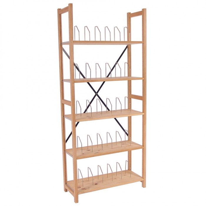 S2013 - Lundia Shelving - Pine - 380 x 900 x 2100h - 30 Shelf Dividers