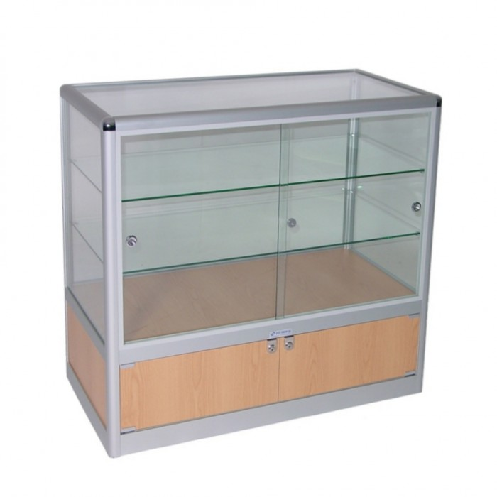 S3001 - Showcase Counter - Glass Top - Tawa Base - 1000x500x900h