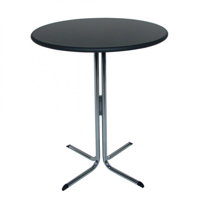 T1041 - Bar Leaner Table - Elite - Round - Black