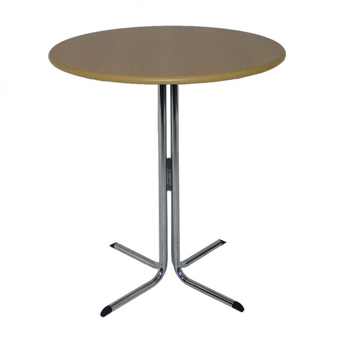 T1043 - Bar Leaner Table - Elite - Round - Tawa